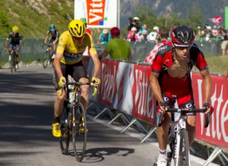Richie Porte og Chris Froome